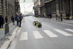 Handsbibke Runners Royalty Free Stock Photo