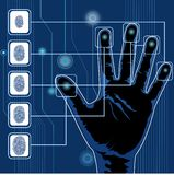 Handscannen lizenzfreie abbildung