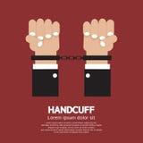 Handschelle lizenzfreie abbildung
