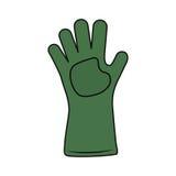 Handschoen geïsoleerd tuinieren Royalty-vrije Stock Fotografie