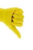 Handschoen van een schoonmaakster Stock Fotografie