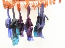 Handschoen voor Bevlekte haarverven stock foto's