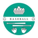 Handschoenen, ballen, honkbalknuppels Zie mijn andere werken in portefeuille Royalty-vrije Stock Afbeelding
