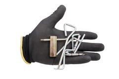 Handschoenen en hulpmiddelen Stock Afbeeldingen
