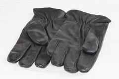 Handschoenen van zwarte. Stock Afbeeldingen