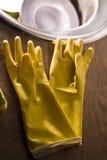 Handschoenen voor wasschotels Royalty-vrije Stock Afbeelding