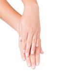 Handschoonheidsmiddelen Stock Afbeeldingen