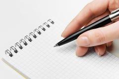 Handschreiben Lizenzfreies Stockbild