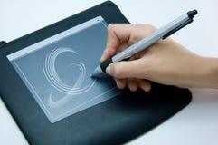 Handschreiben auf Auflage Lizenzfreie Stockfotos