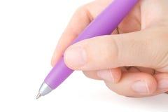 Handschreiben mit einer Feder Lizenzfreies Stockfoto