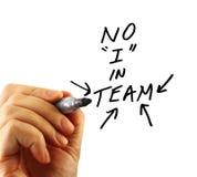 Handschreibens-Teammeldung lizenzfreies stockbild