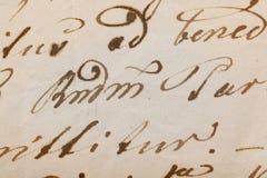 Handschrift stockbild
