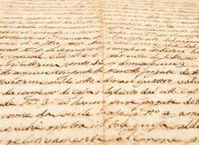 Handschrift royalty-vrije stock afbeelding