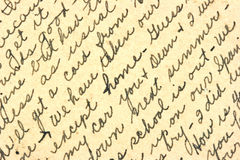 Handschrift Lizenzfreie Stockfotografie