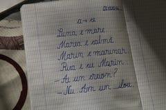 handschrift royalty-vrije stock foto