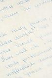 Handschrift Royalty-vrije Stock Foto's