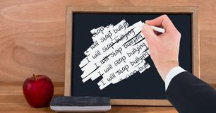 Handschrift I hört auf, auf Tafel einzuschüchtern Lizenzfreies Stockfoto