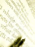 Handschrift in kalligrafiestijlen Royalty-vrije Stock Afbeelding