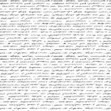 Handschrift. Nahtloser Hintergrund. Stockbild