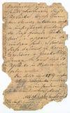 Oud handschrift - circa 1881 royalty-vrije stock afbeeldingen
