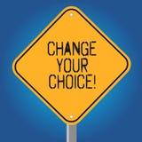 Handschriftstext ändern Ihre Wahl Die Konzeptbedeutung, zum eine zu verbessern Verhaltengewohnheiten oder -glaube löschen allein  lizenzfreie abbildung