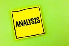 Handschriftstext Analyse Konzept, das strategische analytische Pläne für die neue Websitewachstumsentwicklung geschrieben auf gel Stockbild