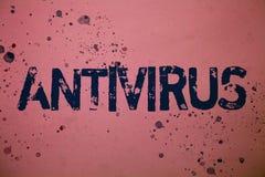 Handschriftstext Antivirus Konzeptbedeutung Verwahrungs-Sperren-Brandmauer-Sicherheits-Verteidigungs-Schutz-Sicherheits-Ideenmitt Stockbilder