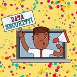 Handschriftstext Datensicherheit Konzept, das den Prozess des Sch?tzens von Daten vor unberechtigtem Zugriff bedeutet stock abbildung
