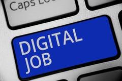 Handschriftstext, der Digital-Job schreibt Konzeptbedeutung werden die Aufgabe bezahlt, die durch Internet und Personal-Computert lizenzfreie stockfotografie