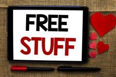 Handschriftstext, der freies Material schreibt Konzeptbedeutung ergänzend frei von Kosten Chargeless gratis Costless unbezahltem  Lizenzfreie Stockfotografie