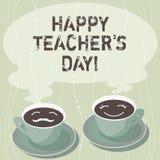 Handschriftstext, der glücklichen Lehrer S Is Day schreibt Konzeptbedeutungs-Geburt zweite Präsident India verwendet, Meister zu  vektor abbildung