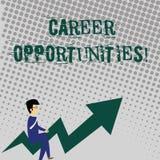 Handschriftstext, der Karriere-Gelegenheiten schreibt Konzept, das eine Möglichkeit oder eine Situation des Habens einer Jobbesc vektor abbildung