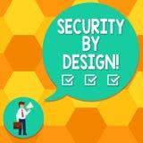 Handschriftstext, der mit Absicht Sicherheit schreibt Das Konzept, das Software bedeutet, ist von der Grundlage zum sicheren Mann stock abbildung