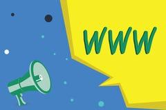 Handschriftstext, der WWW schreibt Konzeptbedeutung Netz des on-line-Inhalts formatierte in HTML und griff über HTTP zu stock abbildung