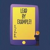 Handschriftstext Führung durch Beispiel Konzept, das Führungs-Management-Mentor-Organisation bedeutet lizenzfreie abbildung