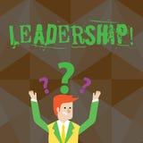 Handschriftstext Führung Konzept, welches die Fähigkeits-Tätigkeit mit einbezieht bedeutet, eine Gruppe der Vertretung oder die F lizenzfreie abbildung