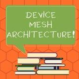 Handschriftstext Gerät Mesh Architecture Konzeptbedeutung Digital-Geschäftstechnologieplattform-Koordination ungleicher Stapel vo stock abbildung