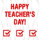 Handschriftstext glücklicher Lehrer S Is Day Konzeptbedeutungs-Geburt zweite Präsident India verwendet, die Meister zu feiern ver stock abbildung