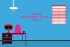 Handschriftstext Huanalysis-Immundefekt-Virus Konzeptbedeutungsvirus in huanalysis Blut, das Immunsystem schwächt lizenzfreie abbildung