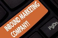 Handschriftstext Inlandsvertriebsgesellschaft Konzeptbedeutungsmarketing-Agentur, der Firmen hilft, zu wachsen Taste Absicht zu lizenzfreie abbildung