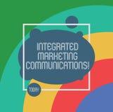Handschriftstext integrierte Marktmitteilungen Konzeptbedeutung verband alle Formen oder Kommunikation asymetrische leere Oval lizenzfreies stockfoto