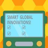 Handschriftstext intelligente globale Innovationen Konzept, das Fähigkeit von Unternehmen bedeutet, um die neuen Gelegenheiten zu stock abbildung