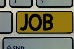 Handschriftstext Job Das Konzept, das A bedeutet, zahlte Position des gelegentlichen Werkstücks der festen Anstellung der Aufgabe stockbilder