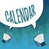Handschriftstext Kalender Konzeptbedeutung paginiert das Zeigen von Tageswochenmonaten bestimmter Jahr Anzeige vektor abbildung