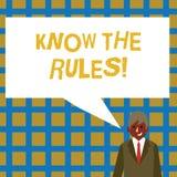 Handschriftstext kennen die Regeln Konzeptbedeutung verstehen, dass Bedingungen Rechtsberatung von den Rechtsanwälten erhalten vektor abbildung