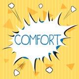 Handschriftstext Komfort Konzept, das körperliche Leichtigkeit Freiheit von Schmerz Entspannung bequem stillsteht bedeutet vektor abbildung
