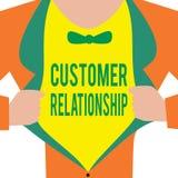Handschriftstext Kunden-Verhältnis Konzeptbedeutung Abkommen und Interaktion zwischen Firma und Verbrauchern stock abbildung
