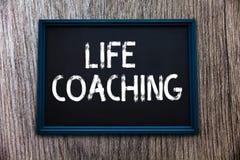 Handschriftstext Lebensberatung Konzeptbedeutung verbessern die Leben durch Herausforderungen anregt uns in unseren Karrieren stockbild