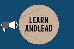 Handschriftstext lernen und führen Konzeptbedeutung verbessern die Fähigkeiten und das knowleadge, um für die Führung zu passen vektor abbildung