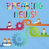 Handschriftstext letzte Nachrichten Das Konzept, das eben bedeutet, erhielt Informationen über ein Ereignis und z.Z. auftretenden stock abbildung